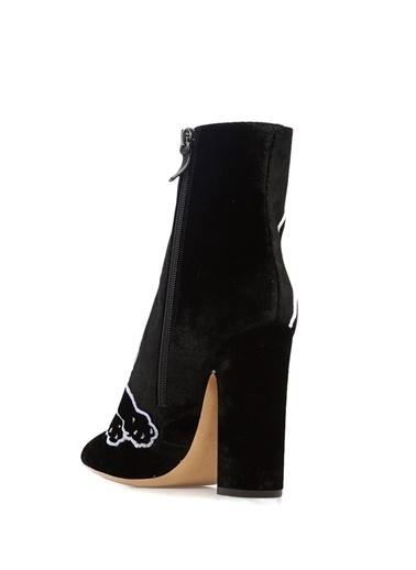 Valentino Kalın Topuklu Deri Bot Siyah